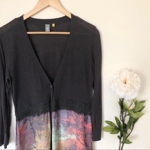 Anthro | Knitted & Knotted Foliage Empire Cardigan